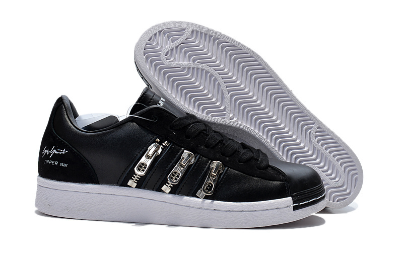 "Men's/Women's Adidas Y-3 ""Zipper Star"" LifeStyle Shoes Black/White B19648"