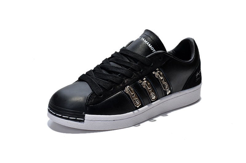 "Men\'s/Women\'s Adidas Y-3 ""Zipper Star\"" LifeStyle Shoes Black/White B19648"