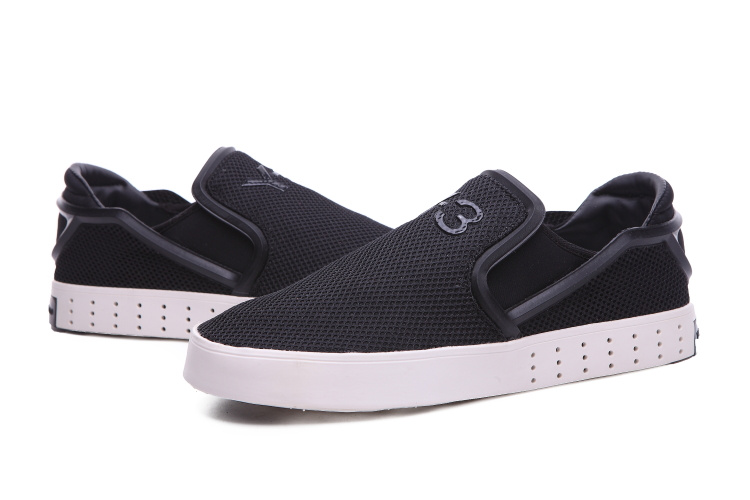 Men\'s Adidas Y-3 Laver Slip On Shoes Black/Black/White B35664