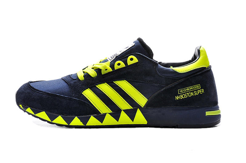 Men\'s/Women\'s Adidas Originals Neighborhood Boston Super OG Shoes Black B26090