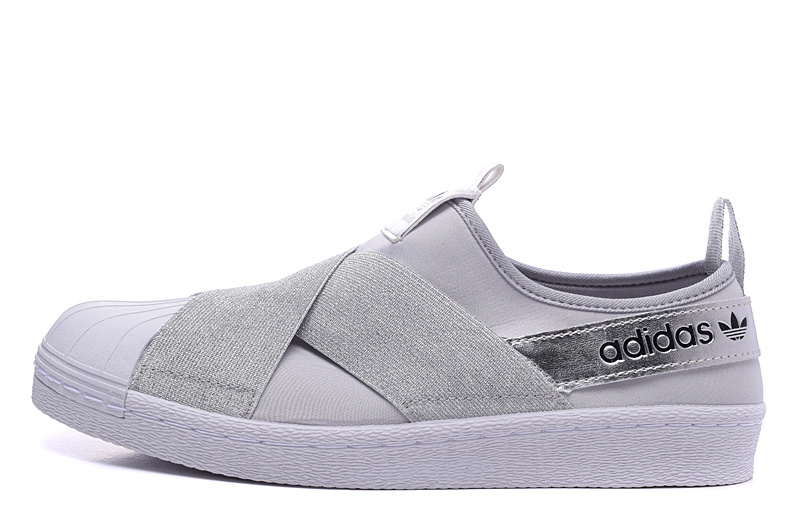 Men's/Women's Adidas Originals Superstar Slip On Trainer Grey/Silver