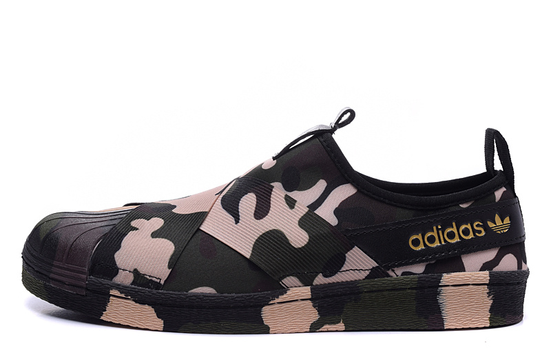 Men's/Women's Adidas Originals Superstar Slip On Trainer Camo