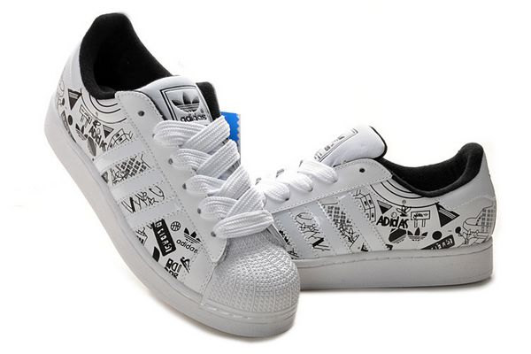 Men's/Women's Adidas Originals Superstar II Graffiti Shoes White/Black G01863