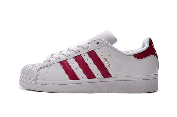 Men's/Women's Adidas Originals Superstar Foundation Shoes White/Pink B23644