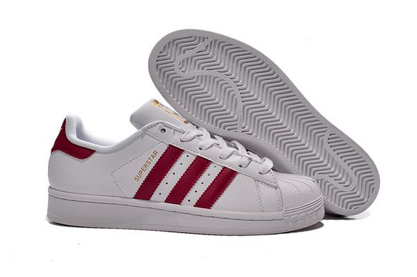 Men\'s/Women\'s Adidas Originals Superstar Foundation Shoes White/Pink B23644