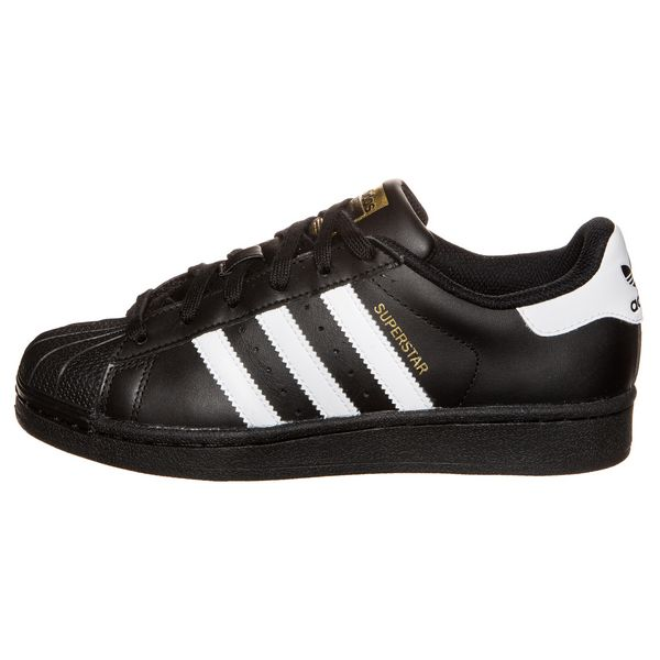 Men\'s/Women\'s Adidas Originals Superstar Foundation Shoes Black/White B23642