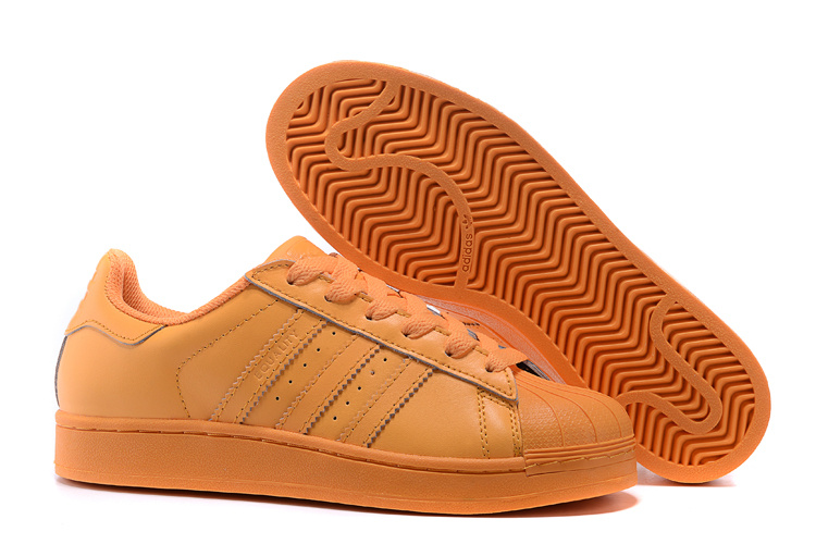 Men's/Women's Adidas Originals Superstar Supercolor Pack Shoes Bright Orange S83394