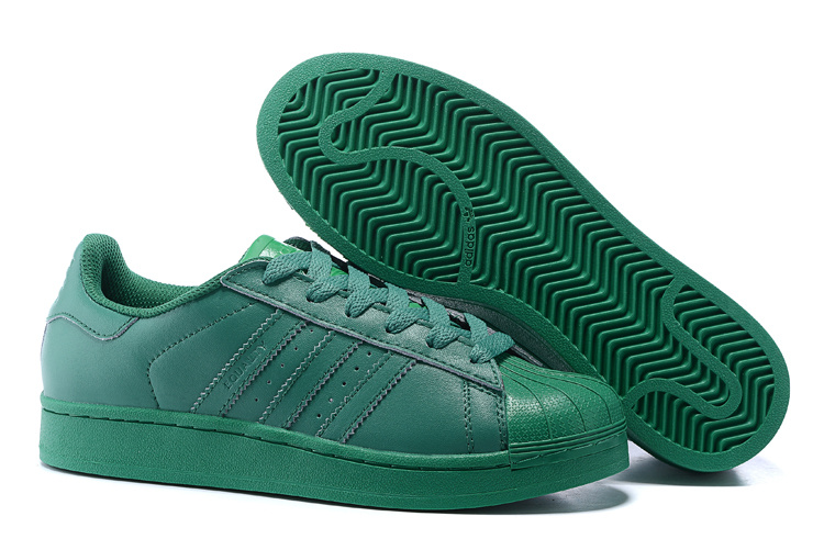 Men's/Women's Adidas Originals Superstar Supercolor PHARRELL WILLIAMS Shoes Blaze Green S83390