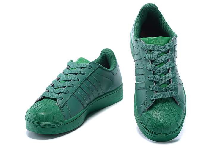 Men\'s/Women\'s Adidas Originals Superstar Supercolor PHARRELL WILLIAMS Shoes Blaze Green S83390