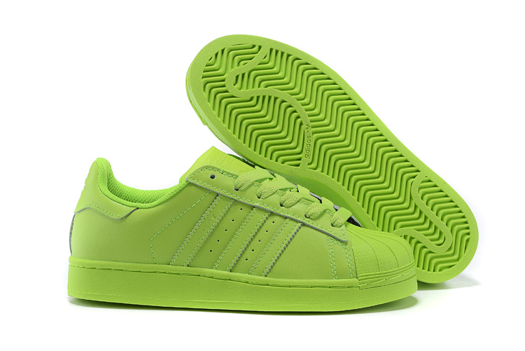 Men's/Women's Adidas Originals Superstar Supercolor PHARRELL WILLIAMS Shoes SOLAR YELLOW S83398