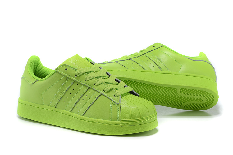 Men\'s/Women\'s Adidas Originals Superstar Supercolor PHARRELL WILLIAMS Shoes SOLAR YELLOW S83398