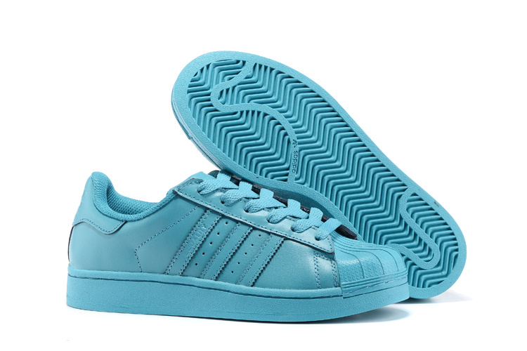 Men's/Women's Adidas Originals Superstar Supercolor PHARRELL WILLIAMS Shoes Vivid Mint S41822