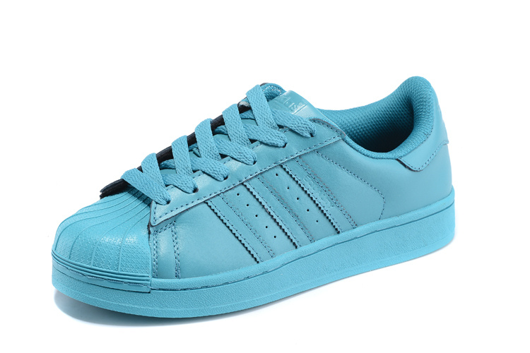 Men\'s/Women\'s Adidas Originals Superstar Supercolor PHARRELL WILLIAMS Shoes Vivid Mint S41822