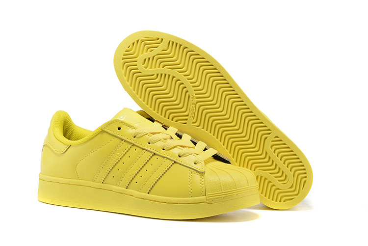 Men's/Women's Adidas Originals Superstar Supercolor PHARRELL WILLIAMS Shoes Bright Yellow S41837