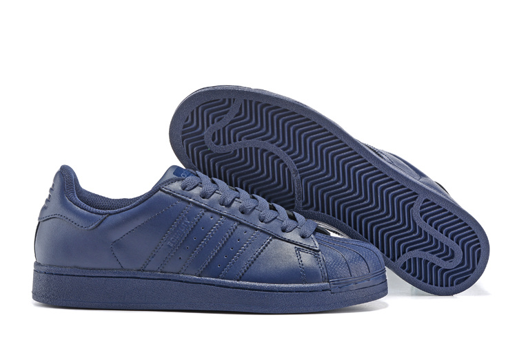 Men's/Women's Adidas Originals Superstar Supercolor PHARRELL WILLIAMS Shoes Navy S83393