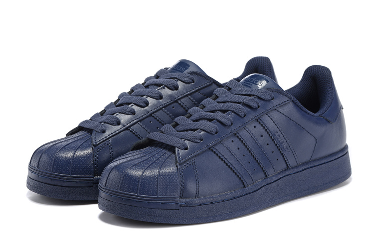Men\'s/Women\'s Adidas Originals Superstar Supercolor PHARRELL WILLIAMS Shoes Navy S83393