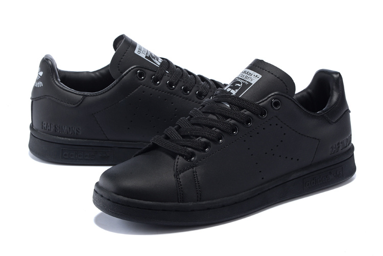 Men\'s/Women\'s Adidas Originals Stan Smith Shoes Black G34069