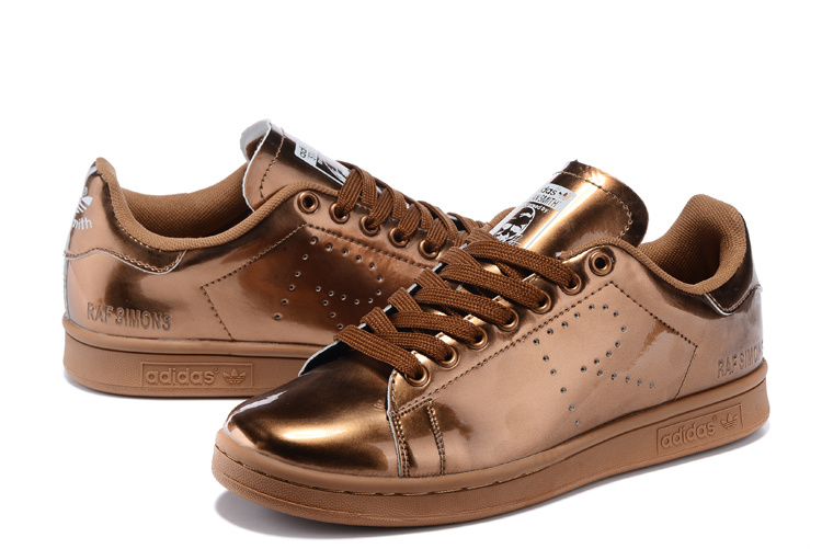 Men\'s/Women\'s Adidas Originals Stan Smith Shoes Gold G34067