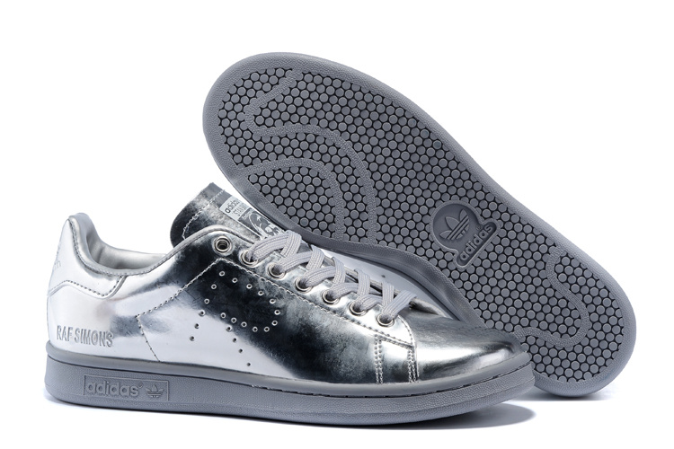 Men's/Women's Adidas Originals Stan Smith Shoes Silver G34065