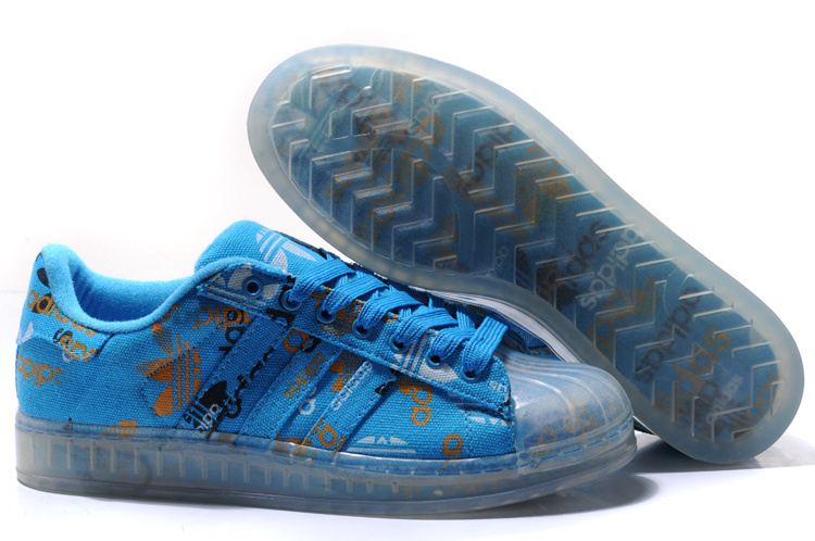 Men's/Women's Adidas Originals Superstar CLR Shoes Blue 027784