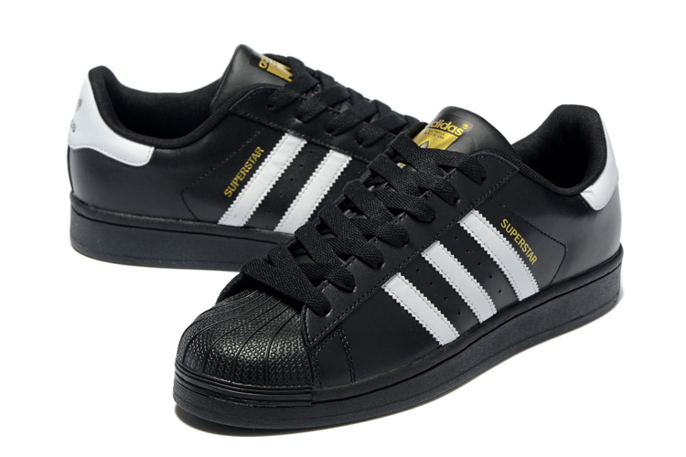 2016 Men\'s/Women\'s Adidas Originals Superstar Shoes Black/White C77123