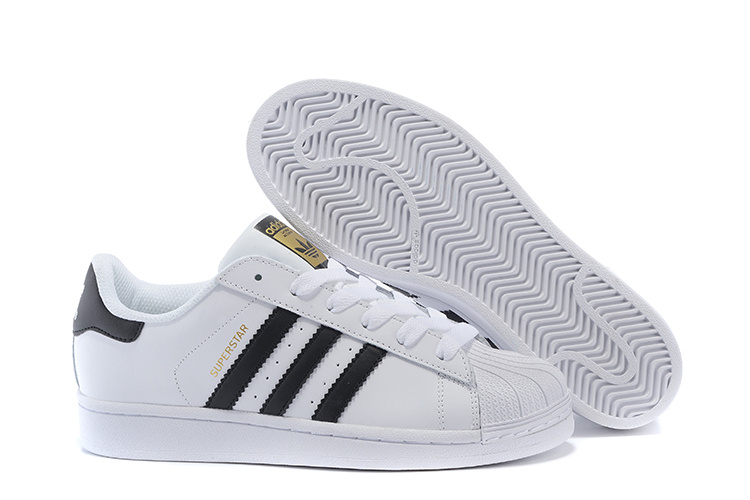 2016 Men's/Women's Adidas Originals Superstar Shoes White/Black C77124