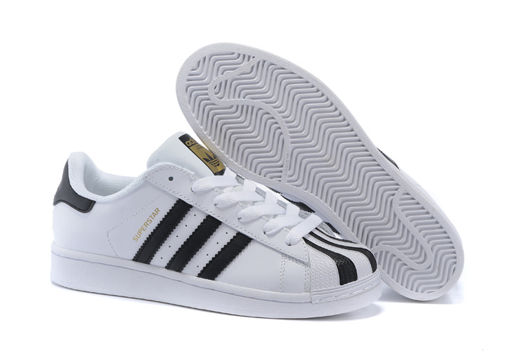 2016 Men's/Women's Adidas Originals Superstar Shoes White/Black C17068