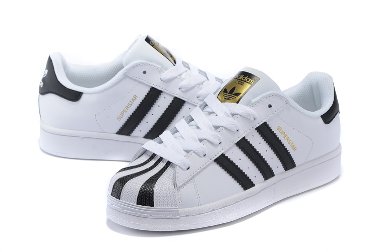 2016 Men\'s/Women\'s Adidas Originals Superstar Shoes White/Black C17068