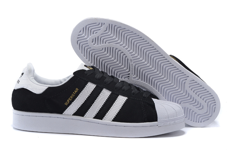 2016 Men's/Women's Adidas Originals Superstar East River Rivalry Shoes BLACK GOLD WHITE B34309