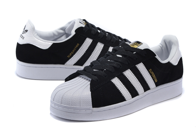 2016 Men\'s/Women\'s Adidas Originals Superstar East River Rivalry Shoes BLACK GOLD WHITE B34309