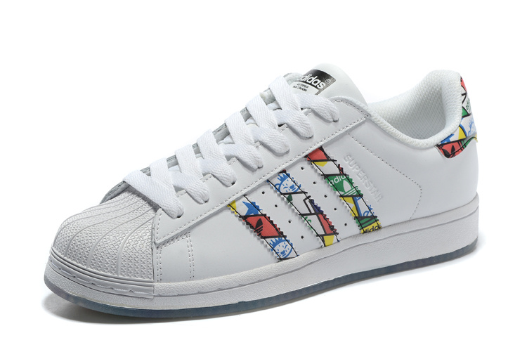 2016 Men\'s/Women\'s Adidas Originals Superstar Tongue Label Shoes WHITE/WHITE/BLACK S79390