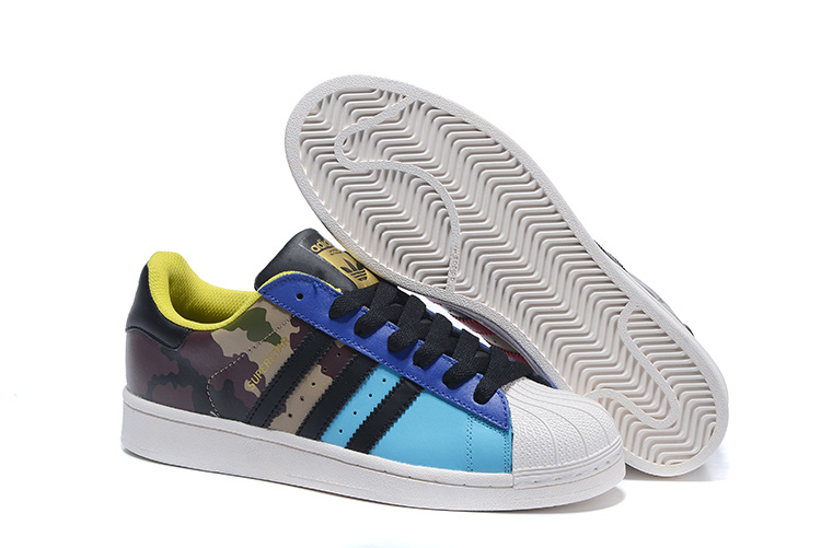 "2016 Men's/Women's Adidas Originals Superstar ""Oddity Pack"" Shoes Bright Cyan / Core Black / Gold Met S82757"