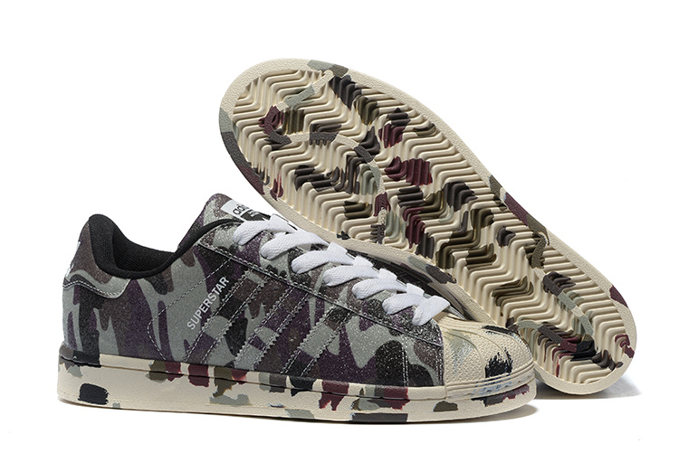 "2016 Men\'s/Women\'s Adidas Originals Superstar ""Graphic Pack\"" Shoes Hemp/Camo/ Black/Ftw White B35403"