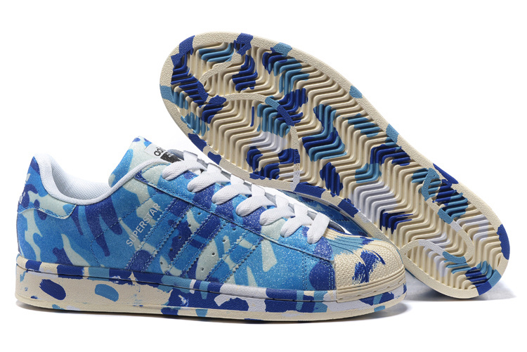 "2016 Men's/Women's Adidas Originals Superstar ""Graphic Pack"" Shoes Blue B35406"