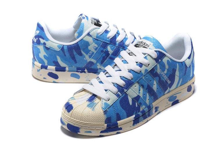 "2016 Men\'s/Women\'s Adidas Originals Superstar ""Graphic Pack\"" Shoes Blue B35406"