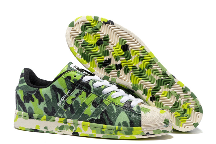 "2016 Men's/Women's Adidas Originals Superstar ""Graphic Pack"" Shoes Bright Green B35405"