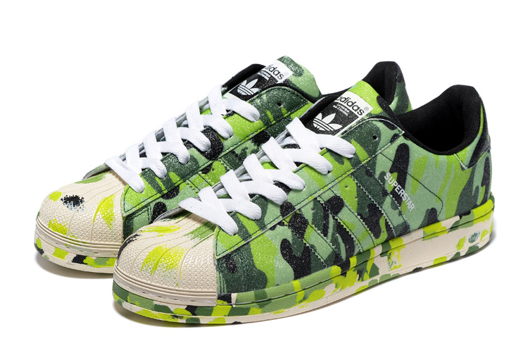"2016 Men\'s/Women\'s Adidas Originals Superstar ""Graphic Pack\"" Shoes Bright Green B35405"
