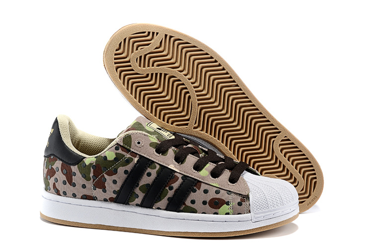 Men's/Women's Adidas Originals Superstar II Polka Dot Casual Shoes Camouflage Camo M20729