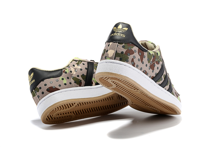 Men\'s/Women\'s Adidas Originals Superstar II Polka Dot Casual Shoes Camouflage Camo M20729