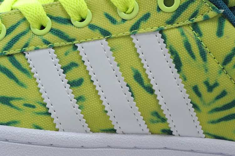 Men\'s/Women\'s Adidas Originals Superstar II Casual Shoes YELLOW/WHITE/GREEN C75314
