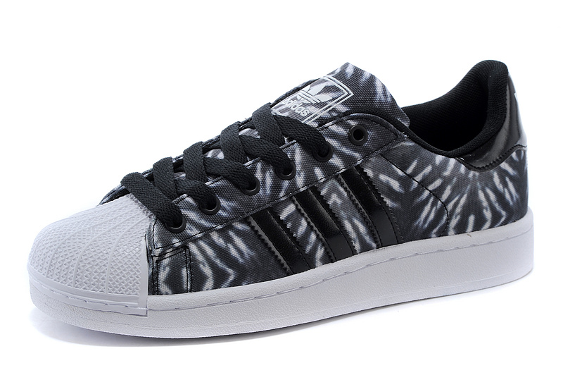 Men\'s/Women\'s Adidas Originals Superstar II Casual Shoes Black/White C75313