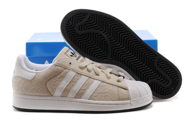 Men's/Women's Adidas Originals Superstar II Casual Shoes Beige White D65470