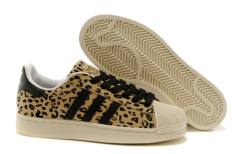 Men's/Women's Adidas Originals FA SS YNG Superstar Casual Shoes Leopard G28086