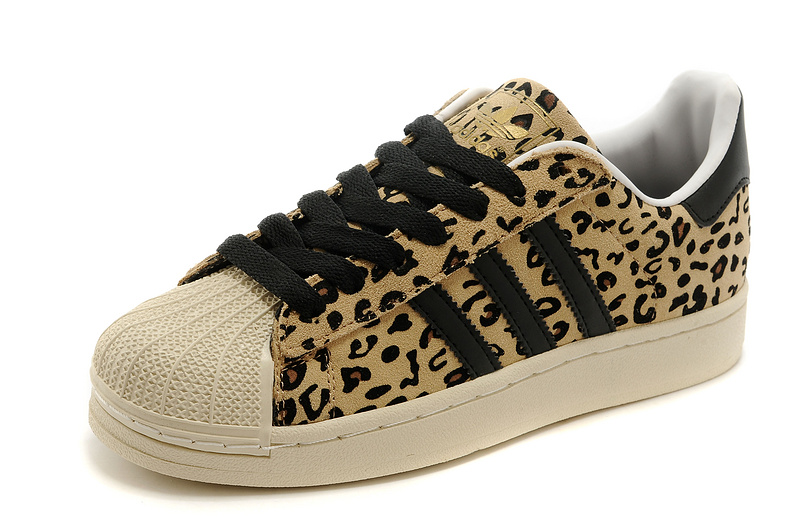 Men\'s/Women\'s Adidas Originals FA SS YNG Superstar Casual Shoes Leopard G28086