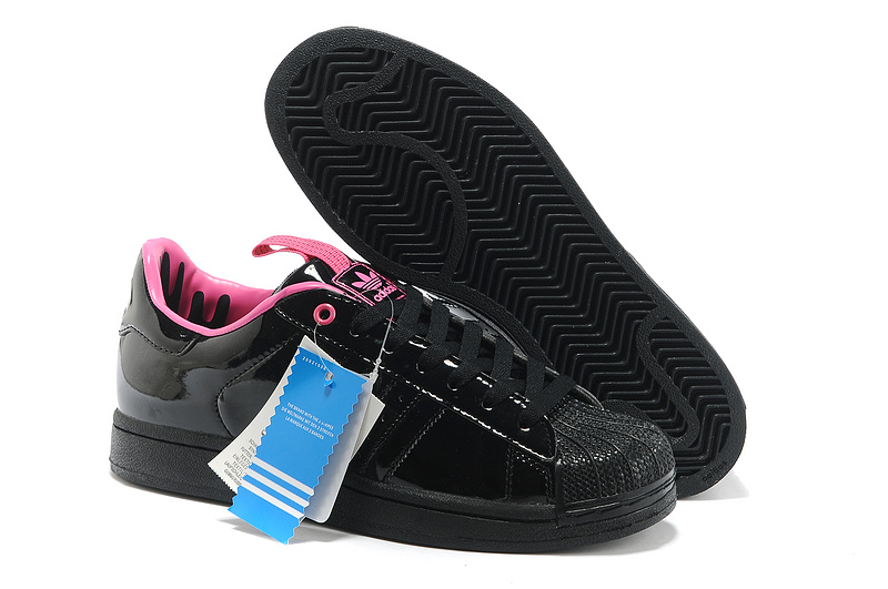 Men's Adidas Originals SS STD LUX Superstar Casual Shoes Black Pink G28359