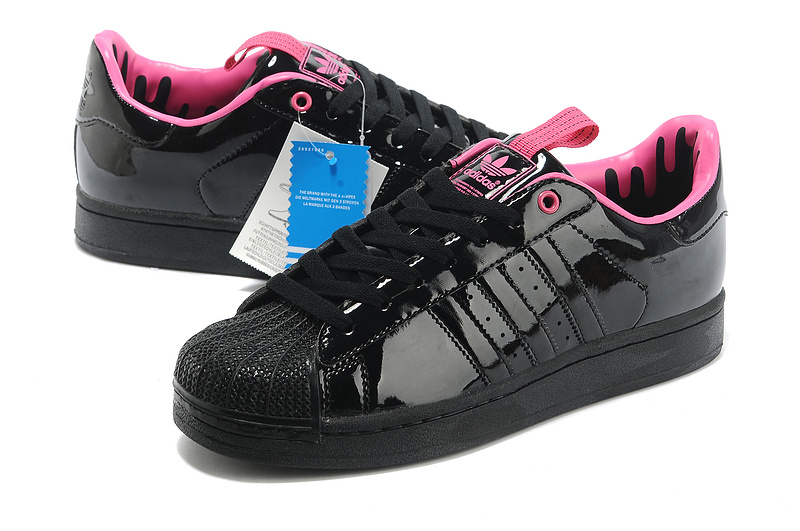 Men\'s Adidas Originals SS STD LUX Superstar Casual Shoes Black Pink G28359