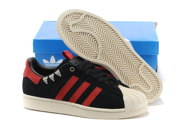 Men's/Women's Adidas Originals SS STD LUX Superstar Casual Shoes Black/Red G28351