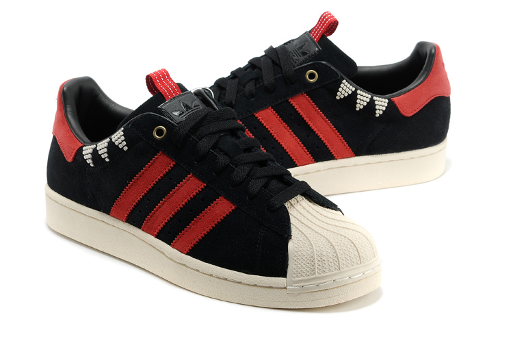 Men\'s/Women\'s Adidas Originals SS STD LUX Superstar Casual Shoes Black/Red G28351