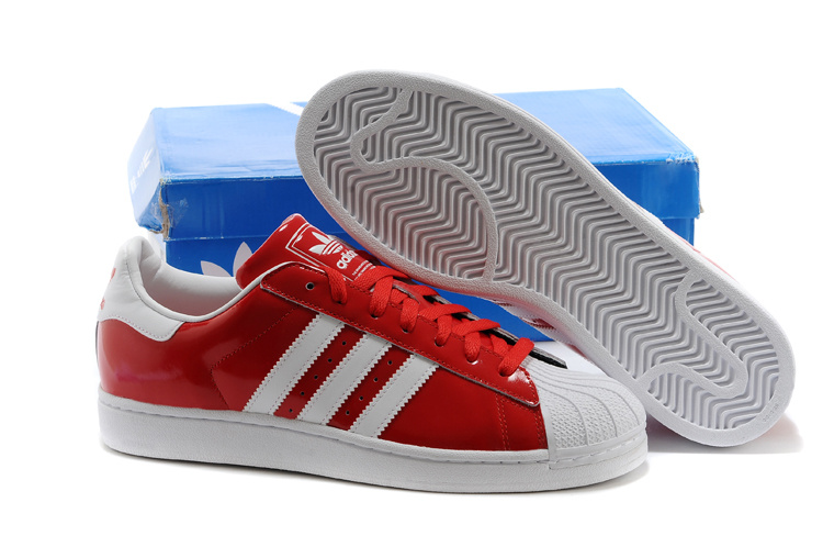 Men's/Women's Adidas Originals Classic Superstar 2 Casual Shoes Red White D65602