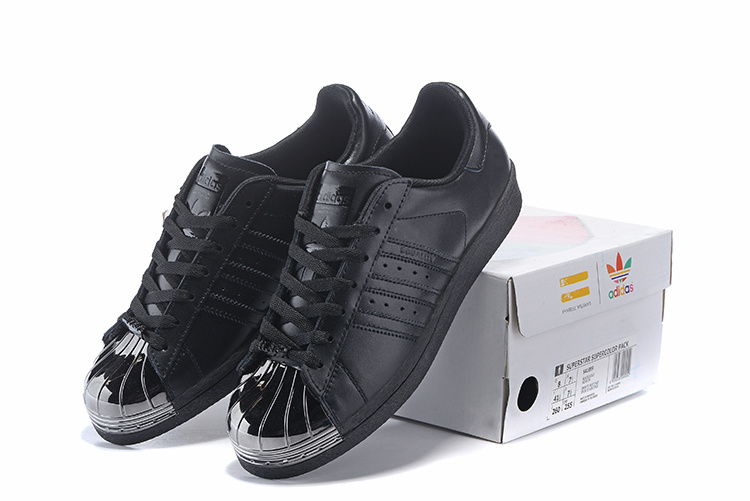 Men\'s/Women\'s Adidas Originals Superstar Pharrell Williams x Supercolor Pack Shoes Black / Metallic S41899